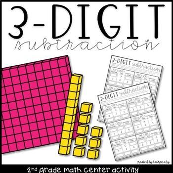 3-Digit Subtraction Math Center Activity