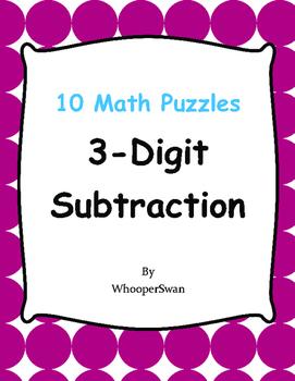 3-Digit Subtraction Puzzles