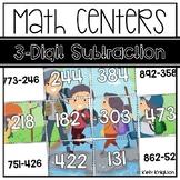3-Digit Subtraction Math Puzzles