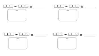 3 Digit Subtraction Partner Game