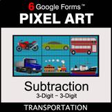 3-Digit Subtraction - Pixel Art Math | Google Forms