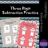 3 Digit Subtraction Practice
