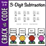 3-Digit Subtraction Practice ~ Crack the Code!