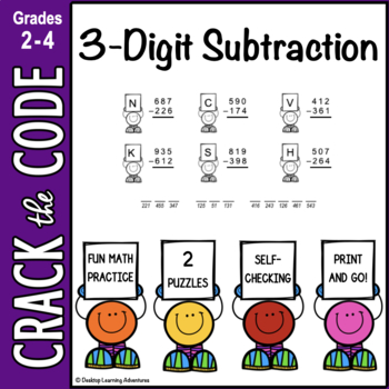 3-Digit Subtraction Practice ~ Crack the Code!