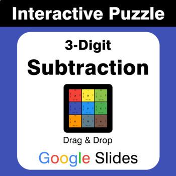 3-Digit Subtraction - Puzzles with GOOGLE Slides