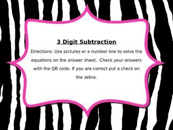 3 Digit Subtraction QR Codes