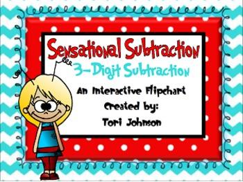 Three Digit Subtraction Flipchart