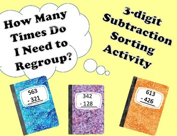 3 Digit Subtraction Regrouping Sort