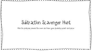 3 Digit Subtraction Scavenger Hunt