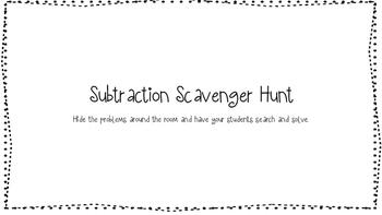 3 Digit Subtraction Scavenger Hunt