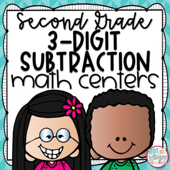 3-Digit Subtraction Second Grade Math Centers