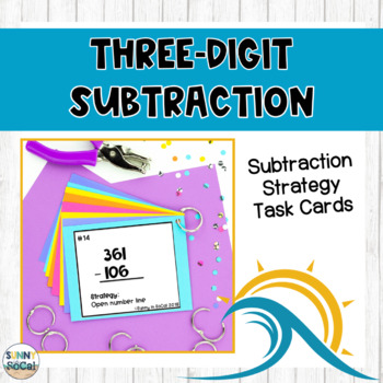 3 Digit Subtraction Strategy Task Cards