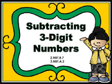 Subtracting 3-Digit Numbers Task Cards