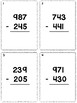 3 Digit Subtraction Task Cards (No Regrouping) *Comes With Answer Key!*