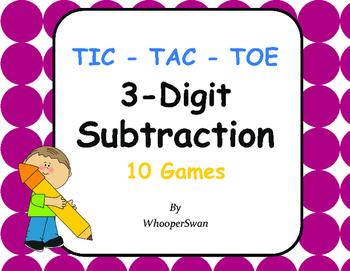 3-Digit Subtraction Tic-Tac-Toe