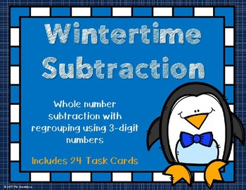3 Digit Subtraction {Winter Theme}