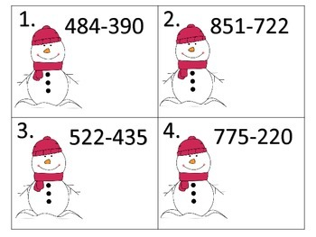 Subtraction With Regrouping--Through the Year--240 Task Cards