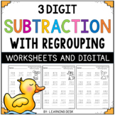 3 Digit Subtraction With Regrouping Worksheets Google Slides   Distance Learning
