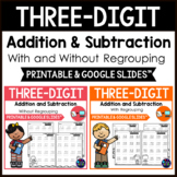 3 Digit Addition and Subtraction Worksheets BUNDLE Distanc