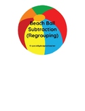 3 Digit Subtraction w/ Regrouping-File Folder