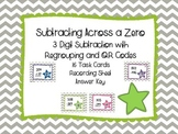 3-Digit Subtraction with Regrouping Across Zero with QR Codes