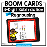 3-Digit Subtraction with Regrouping Boom Cards Distance Learning