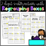 3 Digit Subtraction with Regrouping Boxes