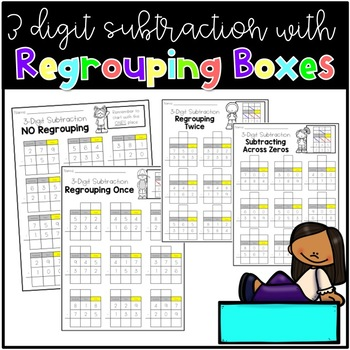 3 Digit Subtraction With Regrouping Boxes By Lauren Maher Tpt