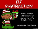 3 Digit Subtraction with Regrouping {Christmas - Elf}