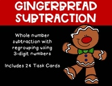 3 Digit Subtraction with Regrouping {Christmas - Gingerbread}
