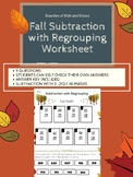 3-Digit Subtraction with Regrouping Fall Worksheet