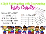3 Digit Subtraction with Regrouping Task Cards