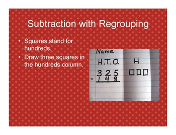 3-Digit Subtraction with Regrouping on Notebook Paper
