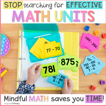 3-Digit Subtraction (with and without regrouping) Second Grade Mindful Math