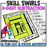 3-Digit Subtraction with and without regrouping differentiated Skill Swirls