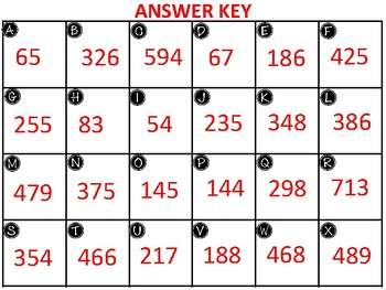 3-Digit Subtraction with regrouping 24 TASK CARDS (with answer key)
