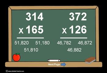 3 Digit Times 3 Digit Multiplication PowerPoint Quiz - Mat