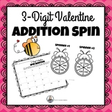 3-Digit Valentine Addition Spin Math Game