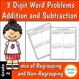 3 Digit Addition and Subtraction Word Problems