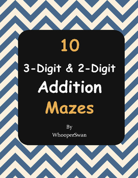 3-Digit and 2-Digit Addition Maze
