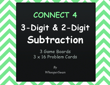 3-Digit and 2-Digit Subtraction - Connect 4 Game