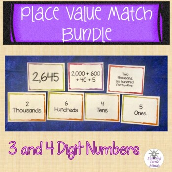 3-Digit and 4-Digit Place Value Matching Bundle