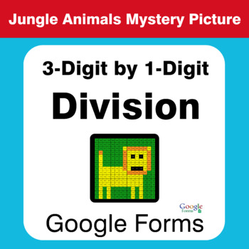 3-Digit by 1-Digit Division - Animals Mystery Picture - Google Forms