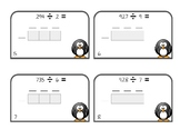 3 Digit by 1 Digit Division Area Model Scoot Cards