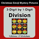 3-Digit by 1-Digit Division - Christmas EMOJI Math Mystery Pictures
