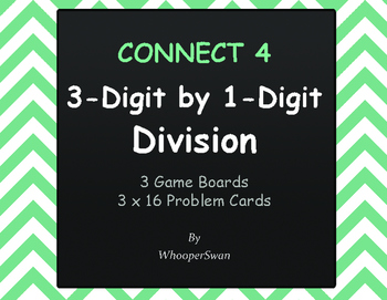 3-Digit by 1-Digit Division - Connect 4 Game
