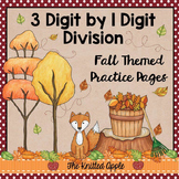 3 Digit by 1 Digit Division {Fall Theme}