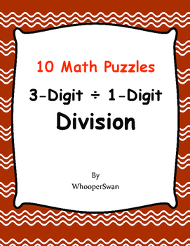 3-Digit by 1-Digit Division Puzzles
