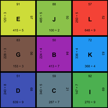 3-Digit by 1-Digit Division - Puzzles with GOOGLE Slides
