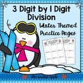 3 Digit by 1 Digit Division {Winter Theme}